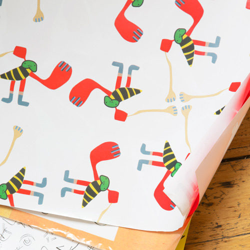 Walter Battiss Wrapping Paper - Close Up